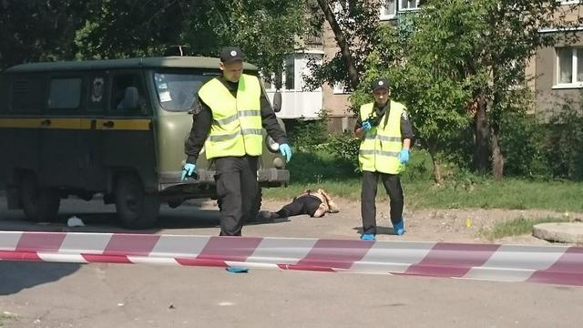 18+: Появилось видео с места расстрела инкассаторов в Харькове